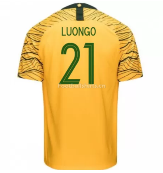 Australia 2018 FIFA World Cup Home Massimo Luongo Soccer Jersey