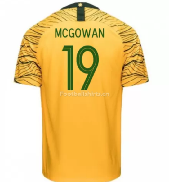 Australia 2018 FIFA World Cup Home Ryan McGowan Soccer Jersey