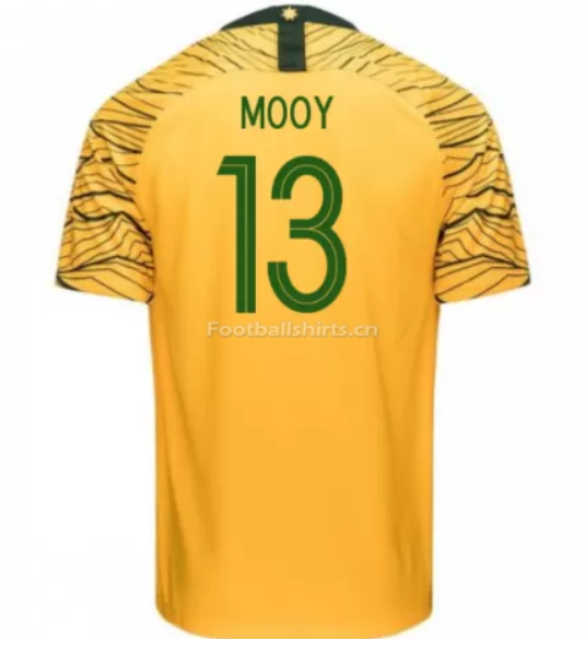 Australia 2018 FIFA World Cup Home Aaron Mooy Soccer Jersey