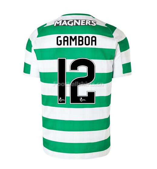 Celtic Home Gamboa 12 Soccer Jersey 2018/19