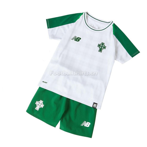 Kids Celtic Away Soccer Jersey Kit Shirt + Shorts 2018/19