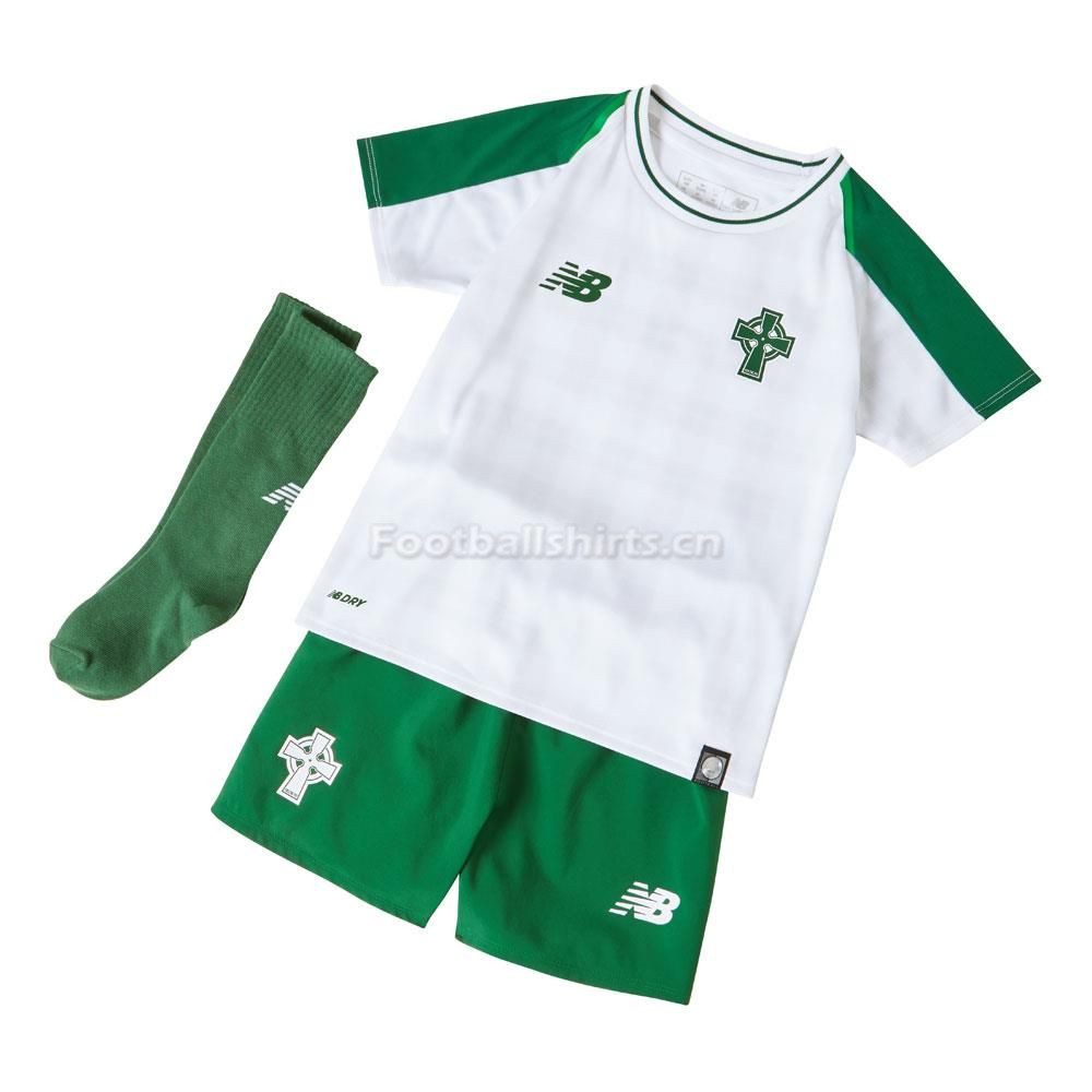 Kids Celtic Away Soccer Jersey Whole Kit Shirt + Shorts + Socks