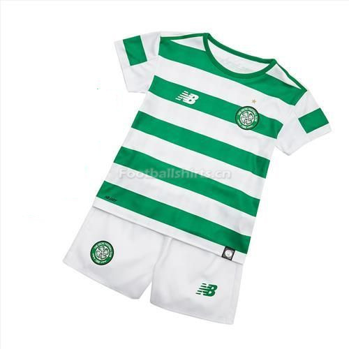 Kids Celtic Home Soccer Jersey Kit Shirt + Shorts 2018/19