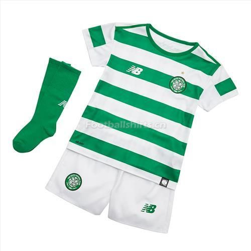 Kids Celtic Home Soccer Jersey Whole Kit Shirt + Shorts + Socks