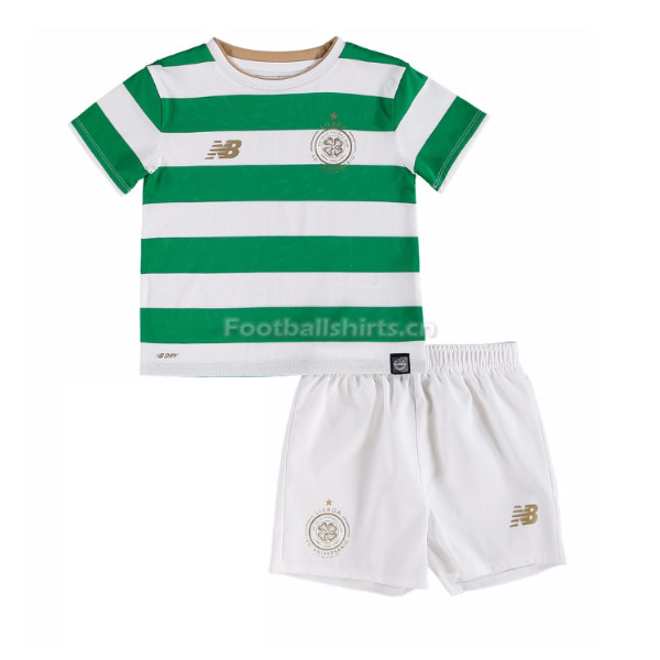 Kids Celtic Home Soccer Kit Shirt + Shorts 2017/18