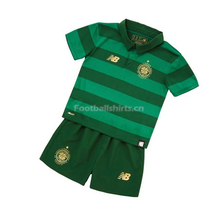 Kids Celtic Away Soccer Kit Shirt + Shorts 2017/18