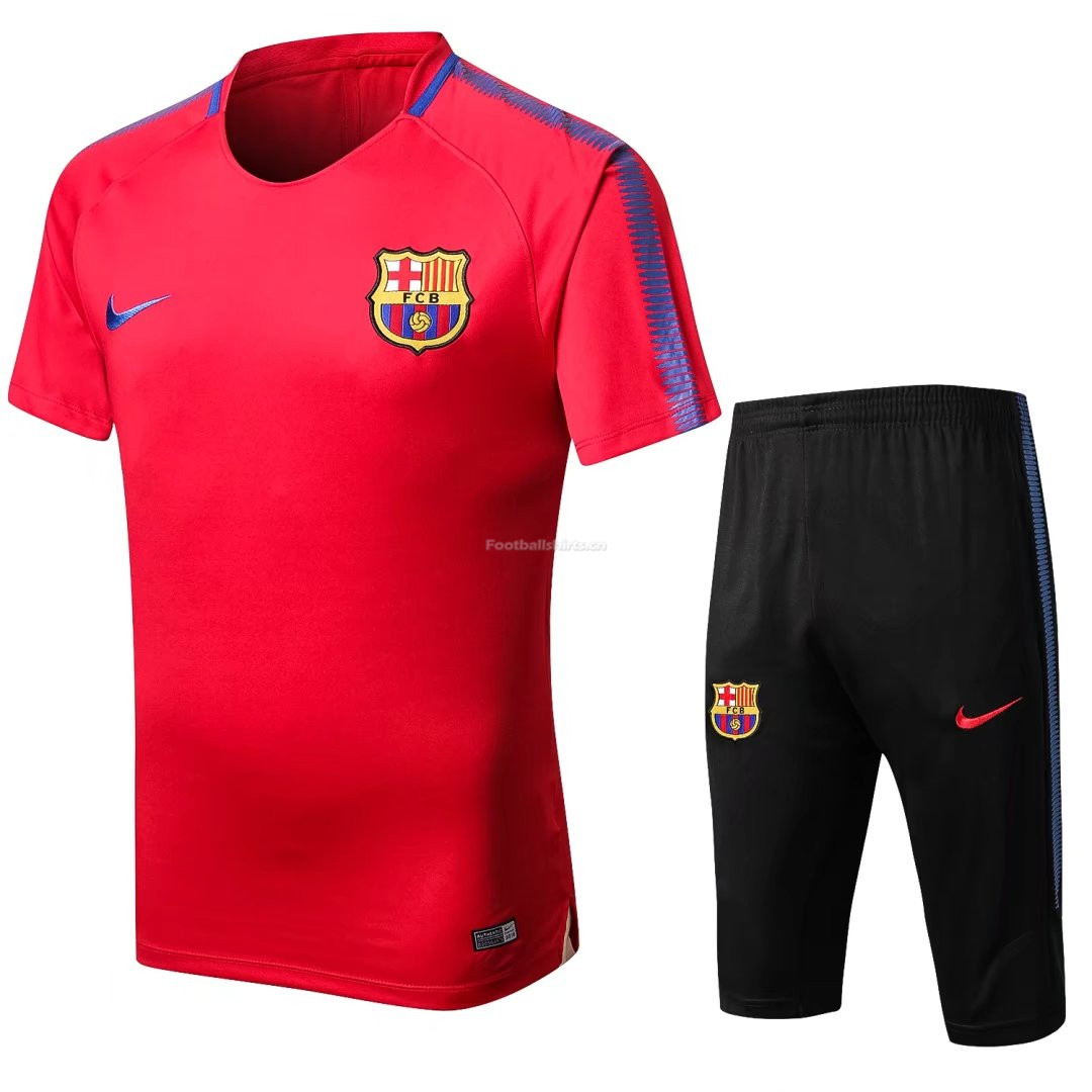 Barcelona Red Short Training Suit 2017/18