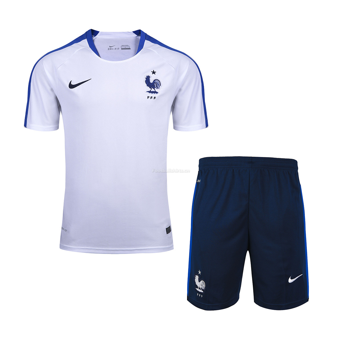 France 2018 World Cup White Short Training Uniform