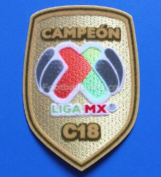 Mexico Liga MX Champions Golden Patch 2017/18
