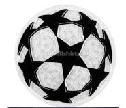 UEFA Champions League Soccer Ball Patch 2018/19