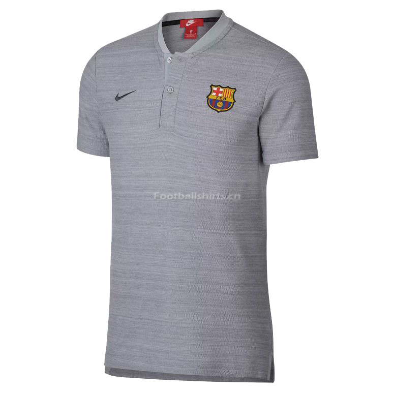 Barcelona Light Grey Polo Shirt 2018/19