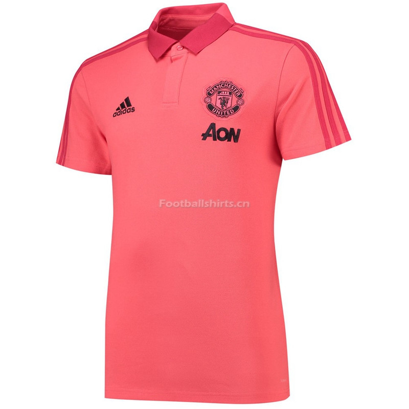 Manchester United Pink Polo Shirt 2018/19