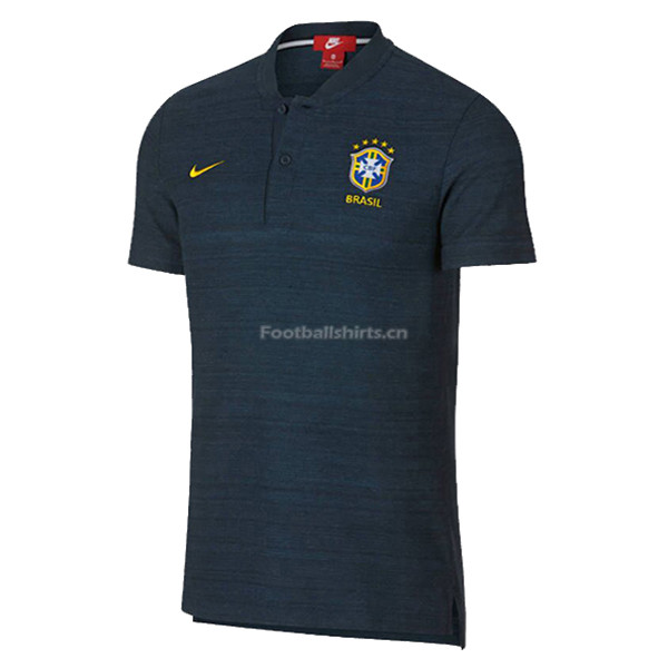 Brazil 2018 World Cup Royal Blue Polo Jersey Shirt