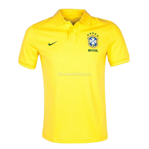 Brazil 2018 World Cup Yellow Polo Shirt