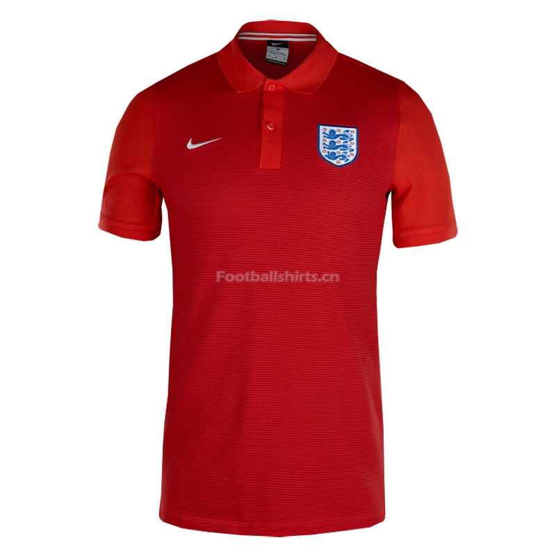 England 2018 World Cup Red Polo Shirt