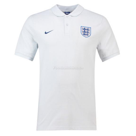 England 2018 World Cup White Polo Shirt