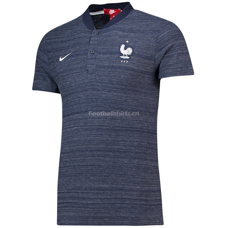 France 2018 World Cup Navy Polo Jersey Shirt