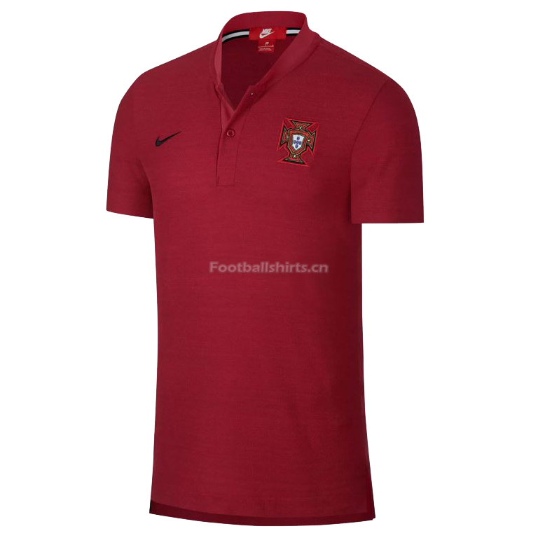 Portugal FIFA World Cup 2018 Red Round Neck Polo Shirt