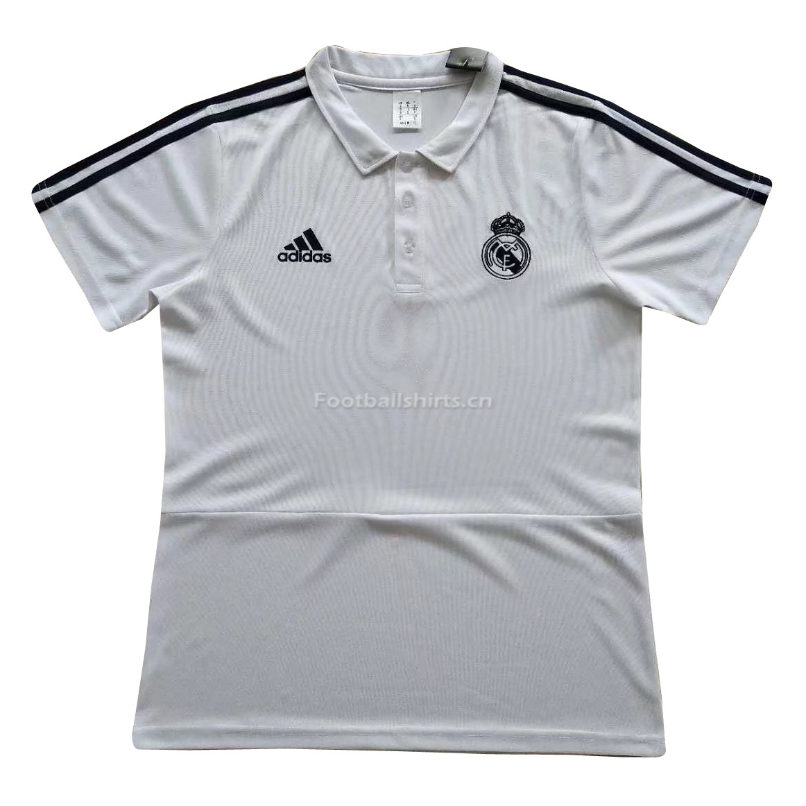 Real Madrid 2018 White Polo Shirt