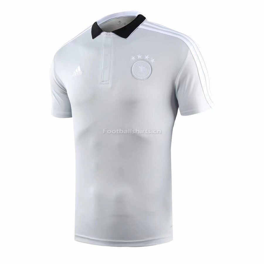 Germany 2018 World Cup Light Grey Polo Shirt