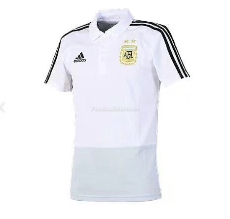 Argentina 2018 World Cup White Polo Shirt
