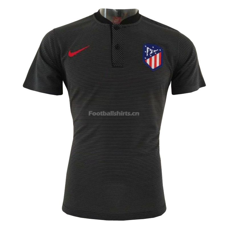 Atletico Madrid Black Polo Shirt 2018/19