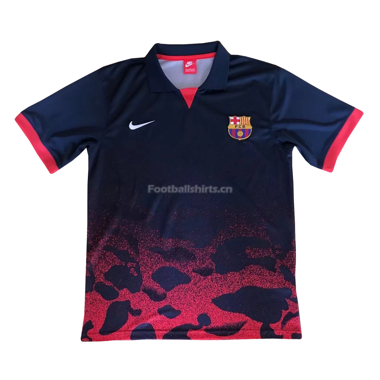 Barcelona Camouflage Red 2018 Polo Shirt
