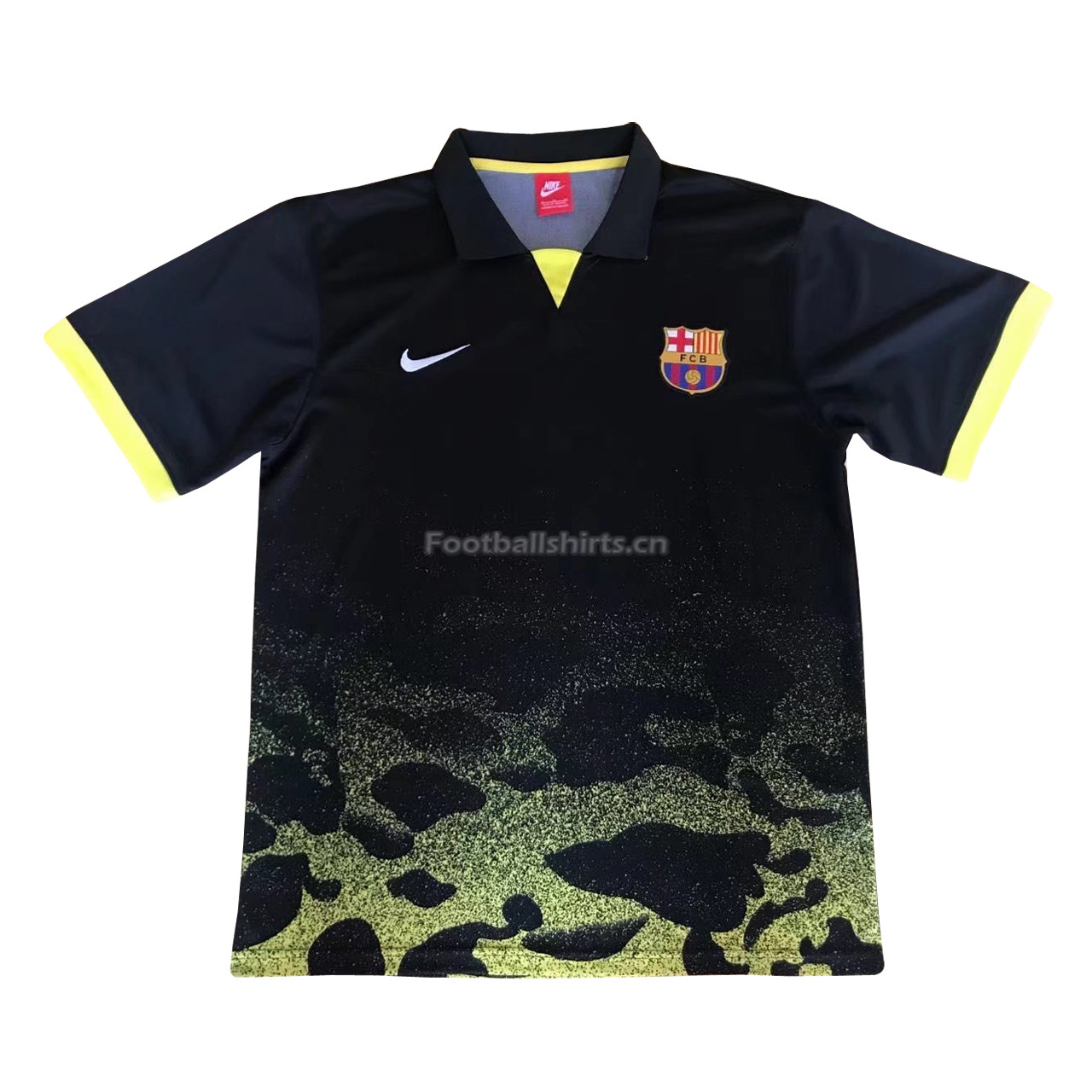 Barcelona Camouflage Yellow 2018 Polo Shirt