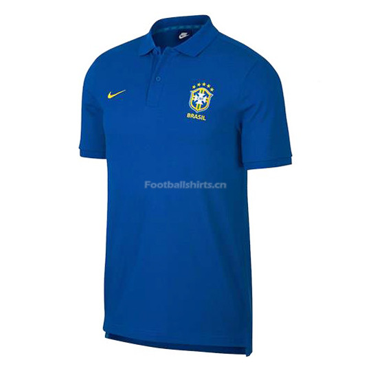Brazil 2018 World Cup Blue Polo Shirt