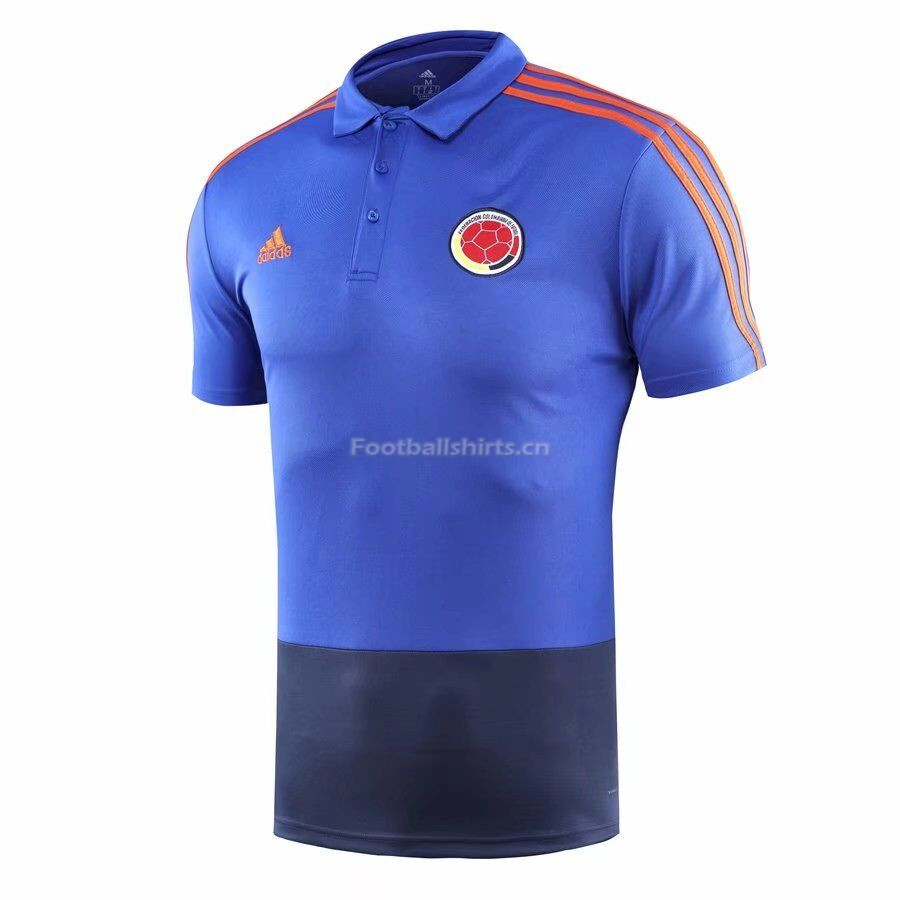 Colombia 2018 World Cup Blue Polo Shirt