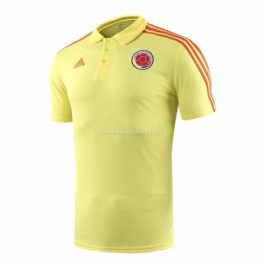 Colombia 2018 World Cup Yellow Polo Shirt