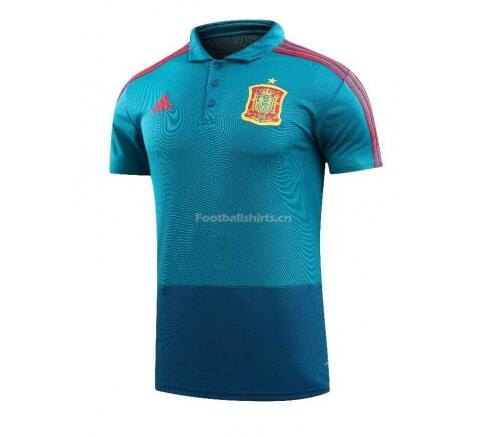 Spain 2018 World Cup Blue Polo Shirt
