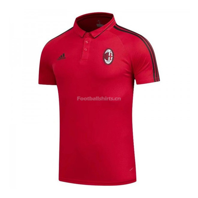 AC Milan Red Polo Shirt 2017/18