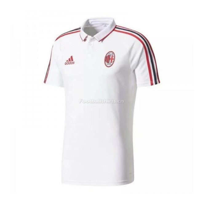 AC Milan White Polo Shirt 2017/18