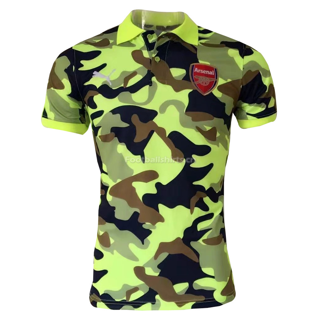 Arsenal Camouflage Green 2017 Polo Shirt