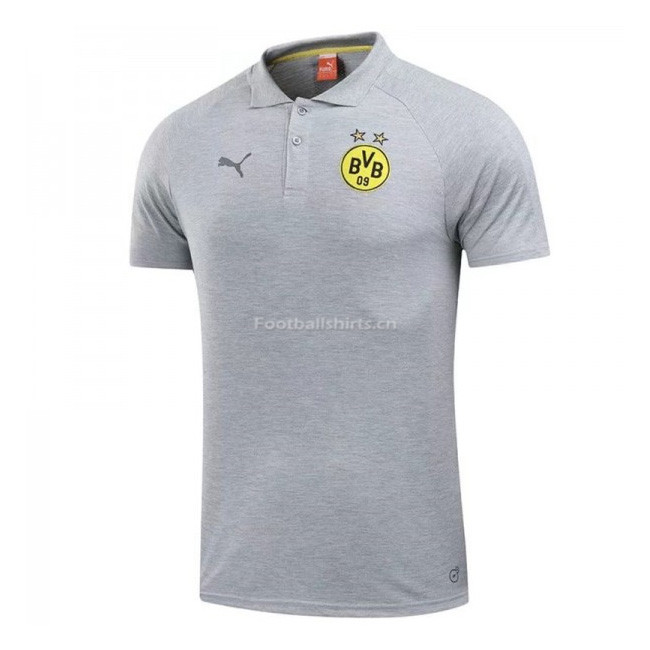 Borussia Dortmund Gray Polo Shirt 2017/18