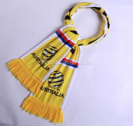 2018 World Cup Australia Soccer Scarf Yellow