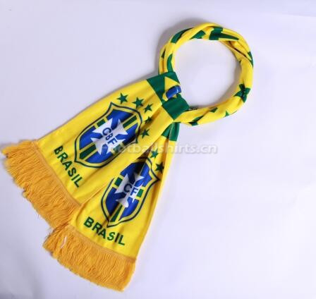 2018 World Cup Brazil Soccer Scarf Yellow