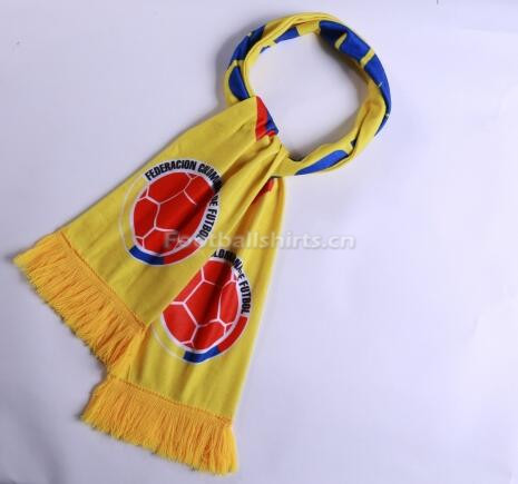 2018 World Cup Colombia Soccer Scarf Yellow