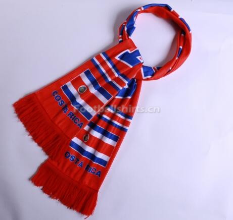 2018 World Cup Costa Rica Soccer Scarf Red