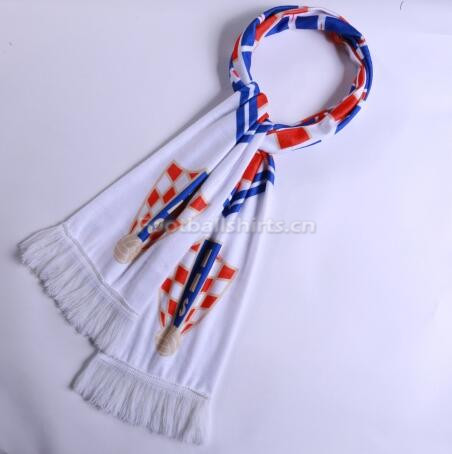 2018 World Cup Croatia Soccer Scarf White