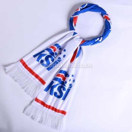2018 World Cup Iceland Soccer Scarf White