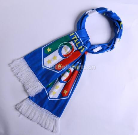 2018 Italy Soccer Scarf Blue