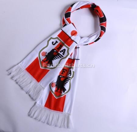 2018 World Cup Japan Soccer Scarf White