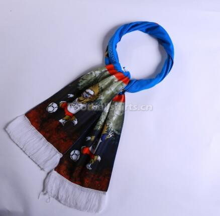 2018 World Cup Mascot Soccer Scarf Blue