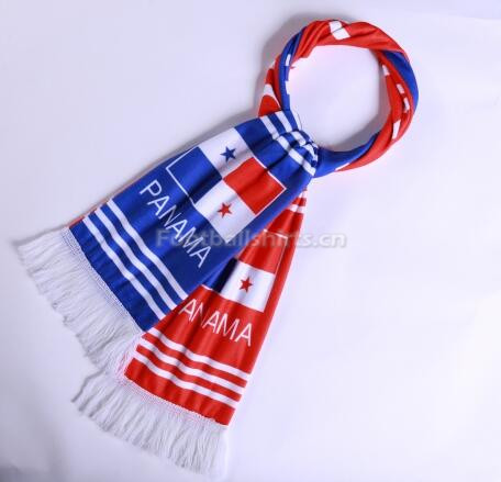 2018 World Cup Panama Soccer Scarf Red
