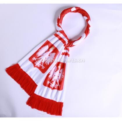 2018 World Cup Poland Soccer Scarf White
