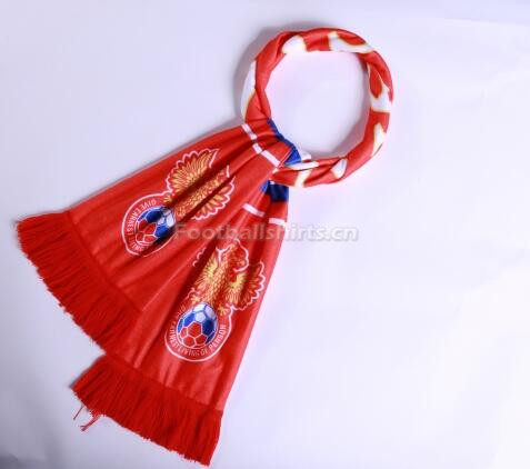 2018 World Cup Russia Soccer Scarf Red