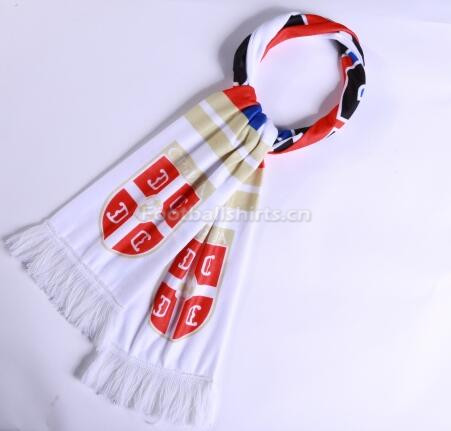 2018 World Cup Serbia Soccer Scarf White
