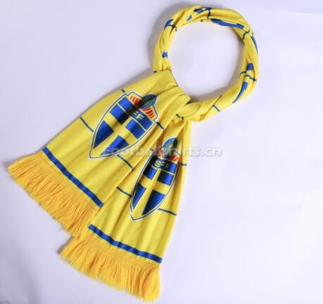2018 World Cup Sverige Soccer Scarf Yellow